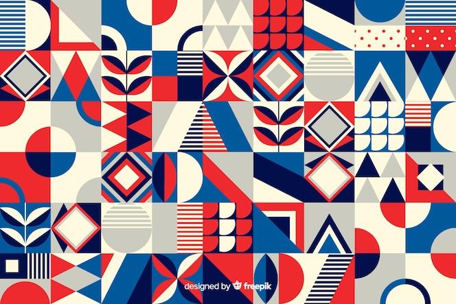 Красочный геометрический фон мозаики