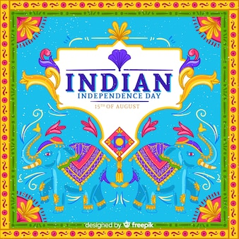 Красочный день независимости индии фона