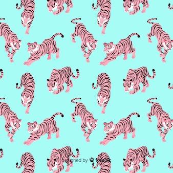 Тигр шаблон рисованной стиль