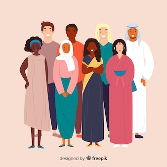 さまざまな人種からの人々のグループ