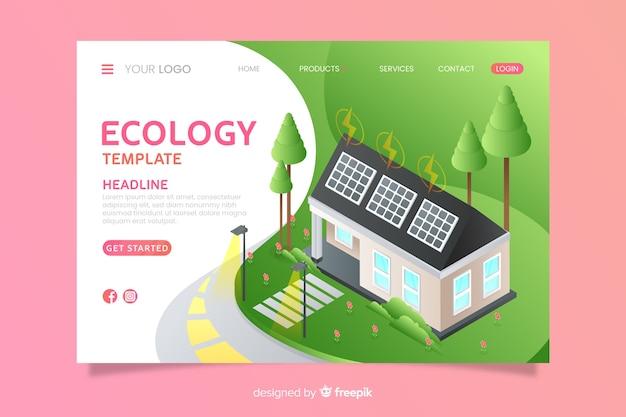 等尺性エコロジーランディングページテンプレート