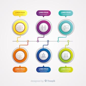 ステップとオプションのインフォグラフィック
