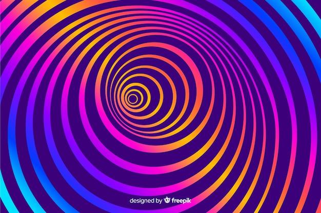 Оптическая иллюзия фон плоский стиль