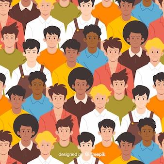 平らな若者のパターンの背景