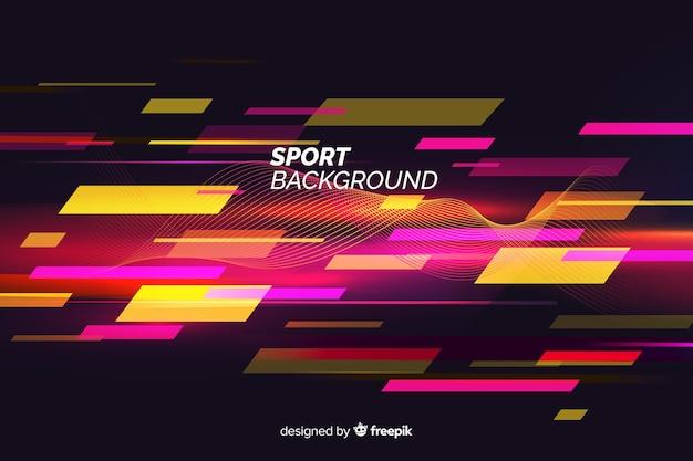 Абстрактный плоский фон формы спорта