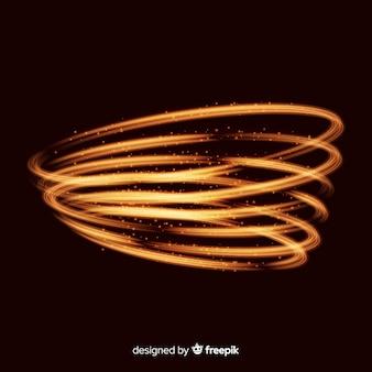 Блестящий золотой спиральный реалистичный стиль