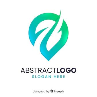 抽象的な形とグラデーションのロゴのテンプレート