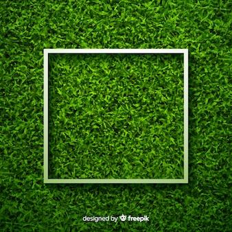 緑の芝生の背景本物のデザイン