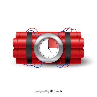 赤の時限爆弾のリアルなスタイル