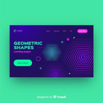 Шаблон страницы посадки абстрактных геометрических фигур