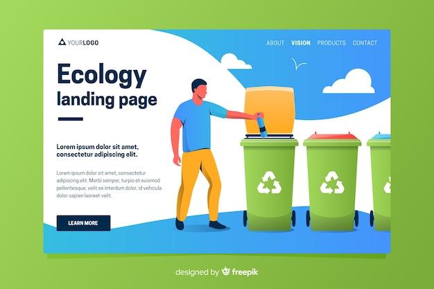 Шаблон целевой страницы плоской переработки