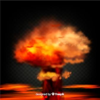 爆弾の煙効果のリアルなデザイン