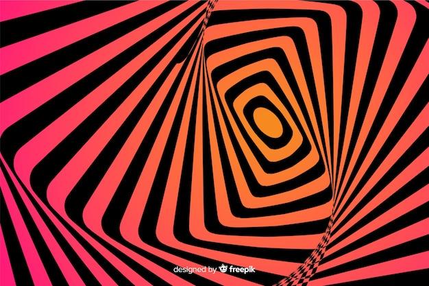 目の錯覚の背景フラットスタイル