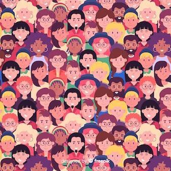 若者の日の人々のパターン