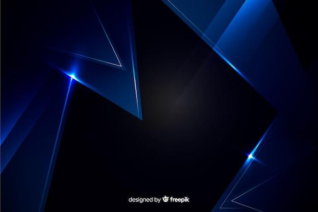メタリック効果と濃い青の背景