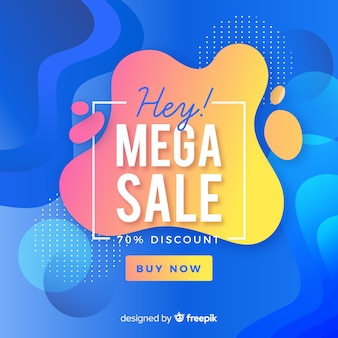 Мега продажи фон с абстрактными формами