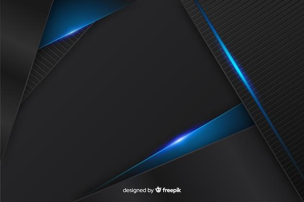 多角形のエレガントな暗い背景