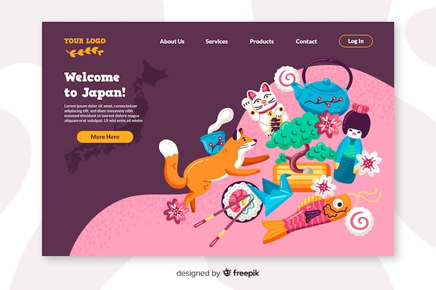 日本のランディングページのフラットデザインへようこそ