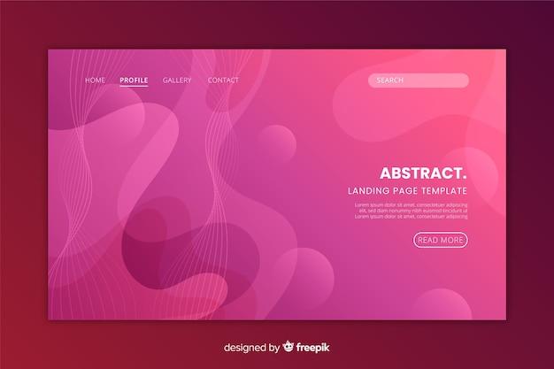 抽象的なモノクロランディングページフラットデザイン