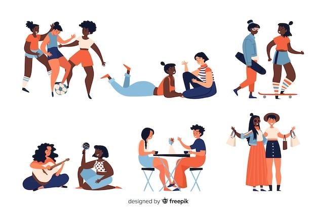 Молодая женщина, проводить время вместе