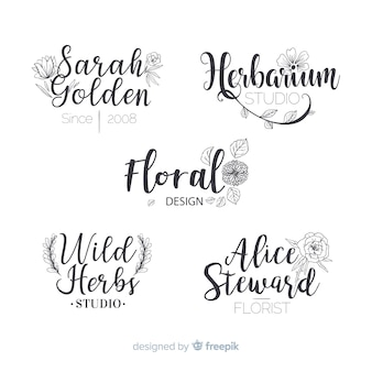 結婚式の花屋のロゴ集