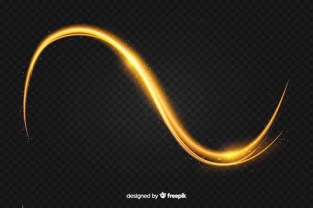 リアルな曲線光効果の背景