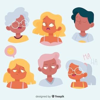 Коллекция эмоций молодых людей