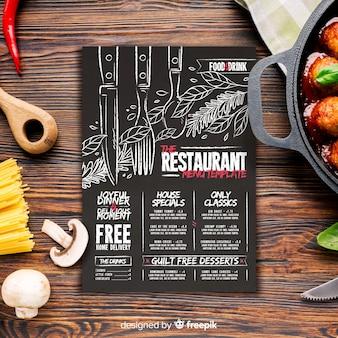 Шаблон меню ресторана с фото