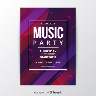 抽象音楽パーティーポスターテンプレート