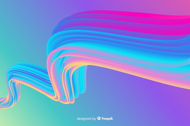 Красочный фон голографической кисти