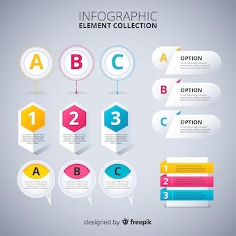 Инфографика элементы коллекции плоский дизайн