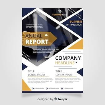 Бизнес шаблон брошюры с фотографией