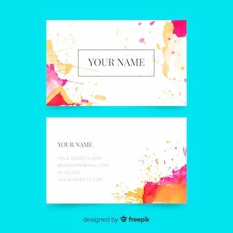 Абстрактный шаблон визитной карточки краски