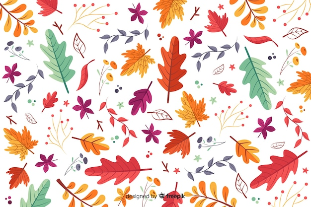 手描きの紅葉の背景