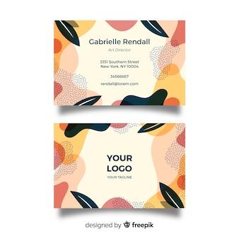 Шаблон визитной карточки абстрактной формы