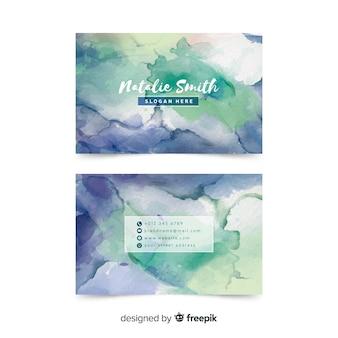 Креативная акварель шаблон визитной карточки