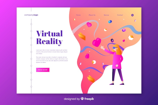 仮想現実のランディングページテンプレート