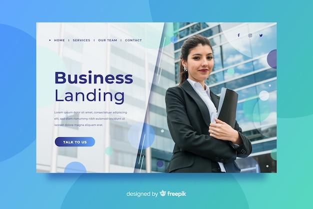 Шаблон бизнес-лендинга с фотографией
