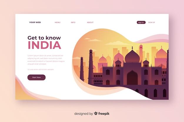 インドのランディングページへようこそ