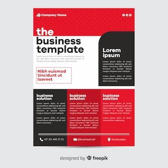 Геометрический бизнес флаер шаблон плоский дизайн