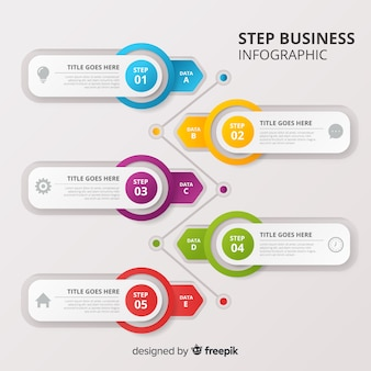 ステップビジネスインフォグラフィック