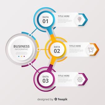 Шаг бизнес-инфографика