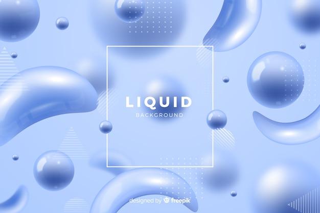 モノクロのリアルな液体効果の背景
