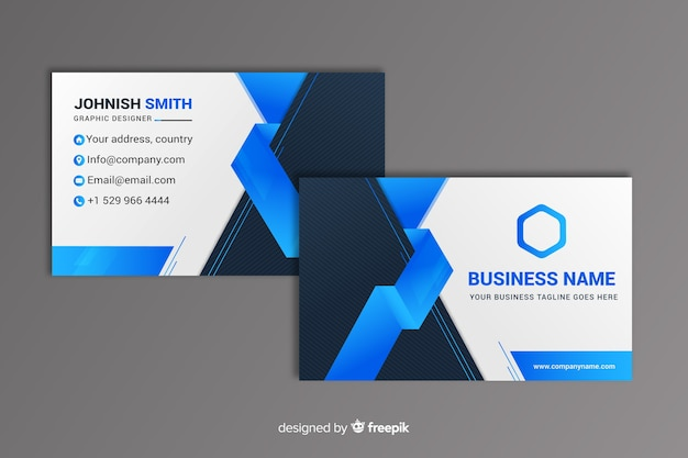 Абстрактная геометрическая визитная карточка