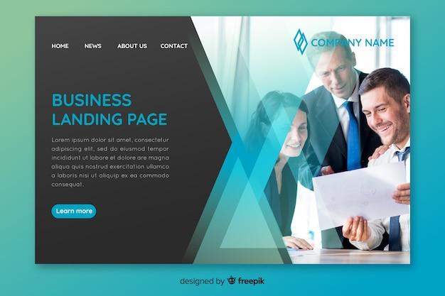 写真付きのビジネスランディングページテンプレート