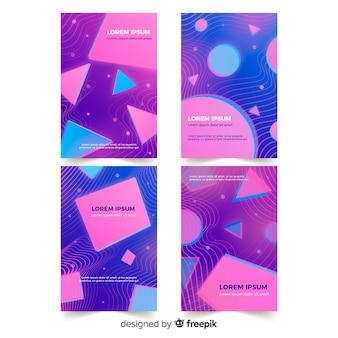 Дизайнерская обложка с красочным эффектом глюка