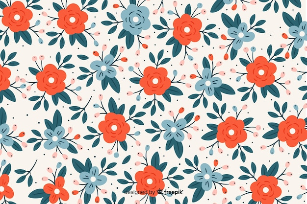 Цветочный фон с яркими цветами