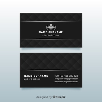 Элегантный шаблон визитной карточки
