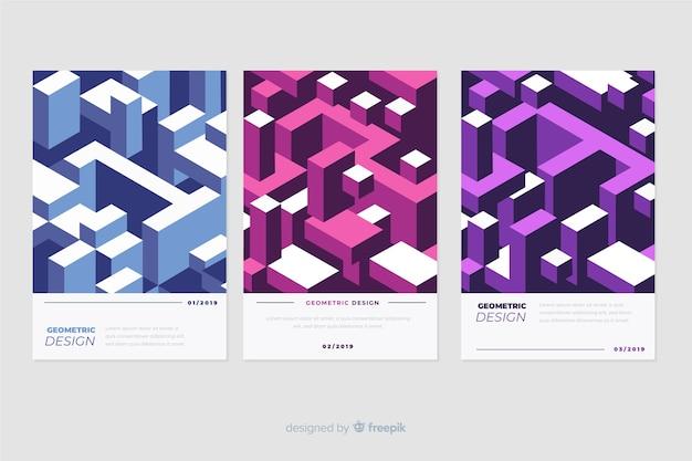 幾何学的なスタイルのデザインカバー