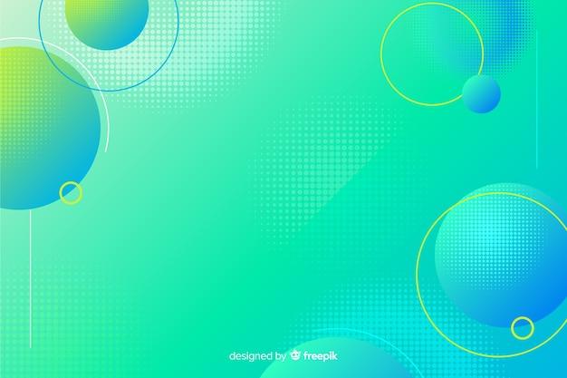 流体形状と抽象的な背景